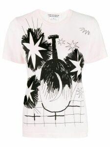 Comme Des Garçons Comme Des Garçons printed crew neck T-shirt - PINK