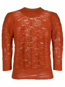 See by Chloé knitted top - Brown