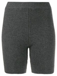 Cashmere In Love Mira knitted biker shorts - Grey