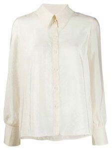 Les Coyotes De Paris balloon-sleeve shirt - NEUTRALS
