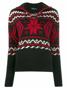 Polo Ralph Lauren winter motifs intarsia jumper - Red