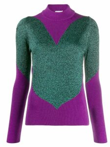 Gcds panelled metallic sweater - PURPLE
