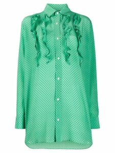 Plan C oversized polka dot shirt - Green