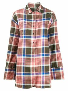 Marco De Vincenzo check-print oversized shirt - Pink