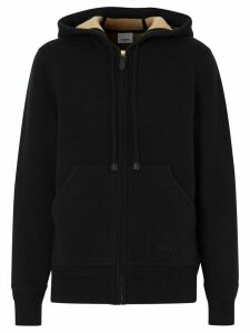 Burberry embroidered logo hoodie - Black
