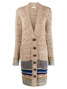 See By Chloé knitted marl cardigan - Neutrals