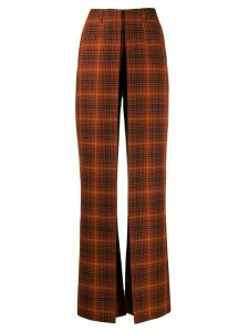 Aalto high waisted front pleat flares - ORANGE