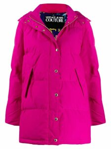 Versace Jeans Couture padded hooded coat - Pink