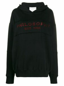 Philosophy Di Lorenzo Serafini branded hoodie - Black