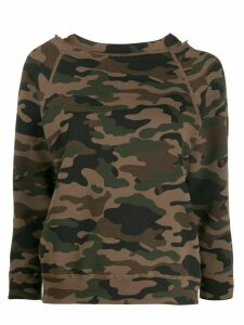 Nili Lotan camouflage print jumper - Brown