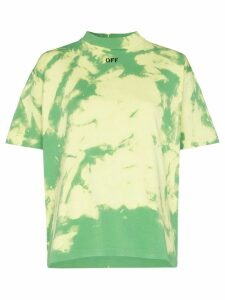 Off-White logo-print tie-dyed T-shirt - Green