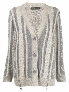 Fabiana Filippi oversized cardigan - Grey