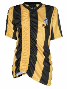 Martine Rose ruched stripe football t-shirt - Yellow