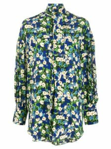 Rokh floral pussybow blouse - Blue