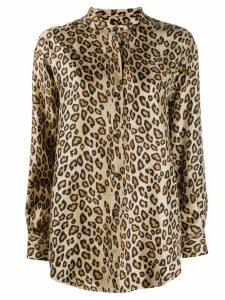 Alberto Biani silk leopard print shirt - NEUTRALS