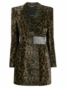 John Richmond leopard print coat - Green