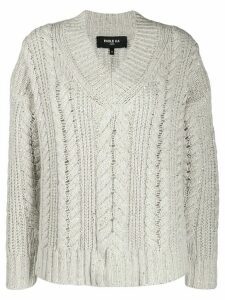 Paule Ka glittery cable-knit jumper - NEUTRALS