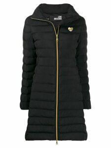 Love Moschino mid length padded coat - Black
