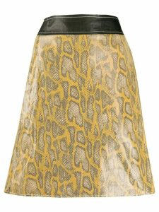Stand Studio snake-effect A-line skirt - Yellow