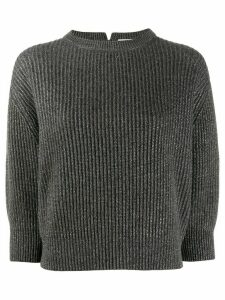 Brunello Cucinelli metallic jumper - Grey