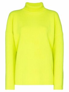 Sies Marjan fluorescent knit roll neck jumper - Yellow