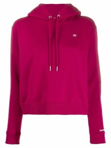Calvin Klein Jeans cropped hooded sweatshirt - Red