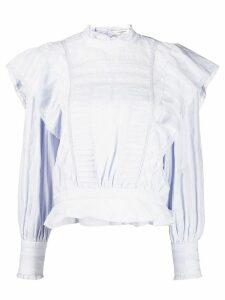 Isabel Marant Étoile Perla frill-trim blouse - Blue