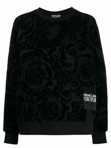 Versace Jeans Couture baroque flocked sweatshirt - Black