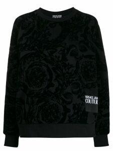 Versace Jeans Couture baroque flocked sweatshirt - Black