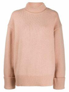 Victoria Victoria Beckham roll neck knitted jumper - NEUTRALS