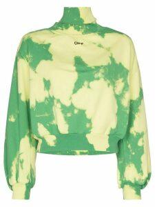 Off-White high-neck cloud print sweatshirt - Green