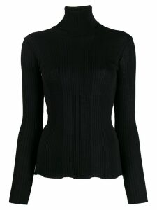 Roberto Collina ribbed roll neck jumper - Black