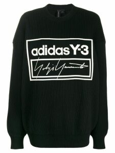 Y-3 stitched logo jumper - Black