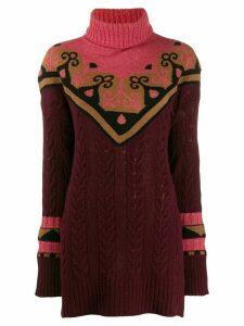 Etro intarsia-knit jumper - Red