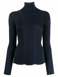 Roberto Collina ribbed roll neck jumper - Blue