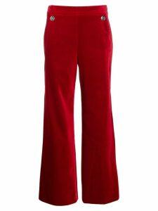 Temperley London flared velvet trousers