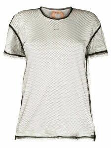 Nº21 mesh logo T-shirt - White