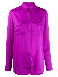 Victoria Victoria Beckham wide-collar plain shirt - Purple