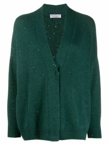Brunello Cucinelli sequin-embellished cardigan - Green