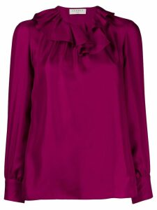 Sandro Paris ruffled neck blouse - PURPLE