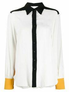 8pm contrast panel shirt - White