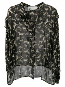 8pm animal print blouse - Black