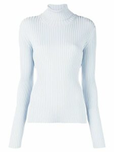 Proenza Schouler Lightweight Ribbed Turtleneck Sweater - Blue