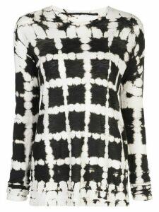 Proenza Schouler grid print longsleeved T-shirt - Black