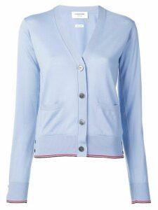 Thom Browne RWB Tipping cashmere cardigan - Blue