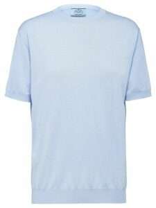 Prada shortsleeved knitted top - Blue