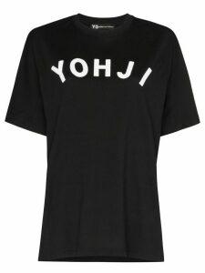 Y-3 logo short sleeved T-shirt - Black