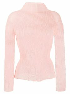 Issey Miyake long-sleeve pleated blouse - Pink