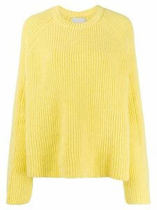 Laneus crew-neck knit sweater - Yellow