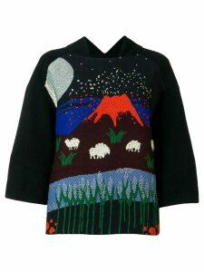 Henrik Vibskov volcano print blouse - Blue
